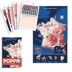 Poster Carte de France Poppik