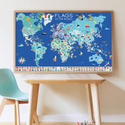 Poster Drapeaux du Monde Poppik