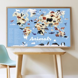 Poster Animaux du Monde Poppik