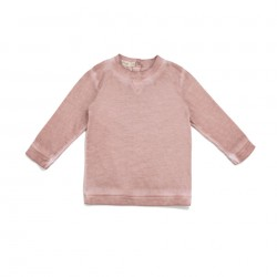 Tee-shirt manches longues rose délavé Phil & Phae
