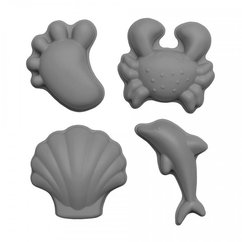 Formes de plage grises Scrunch