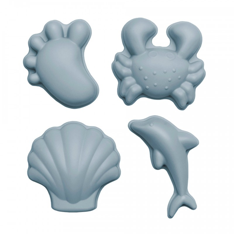 Formes de plage bleues Scrunch