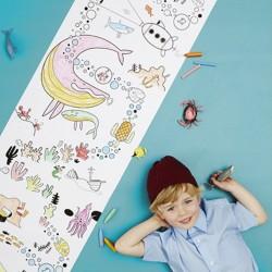 Rouleau de coloriage Playpa Ocean Olli Ella