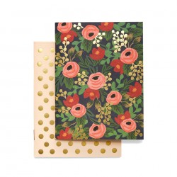 2 carnets Rosa Rifle Paper Co