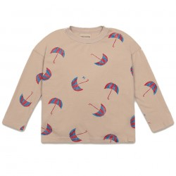 Tee-shirt manches longues beige Umbrellas Bobo Choses