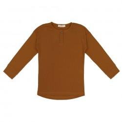 Tee-shirt côtes Golden Olive Phil & Phae