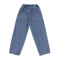 Pantalon Pomelos Mademoiselle Denim Clair Poudre Organic