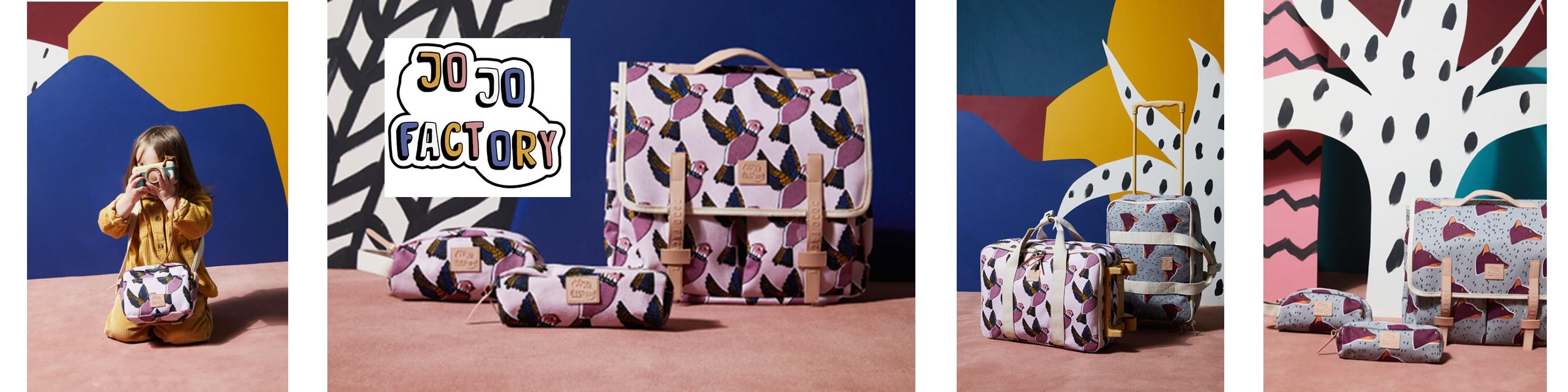 La collection rentrée des classes Jojo Factory : collaboration avec Hello Simone et motifs Pink Birds et Leo