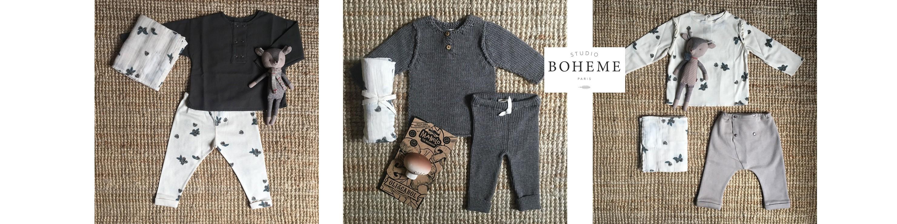 Studio Bohème : de jolis vêtements en coton bio et en laine