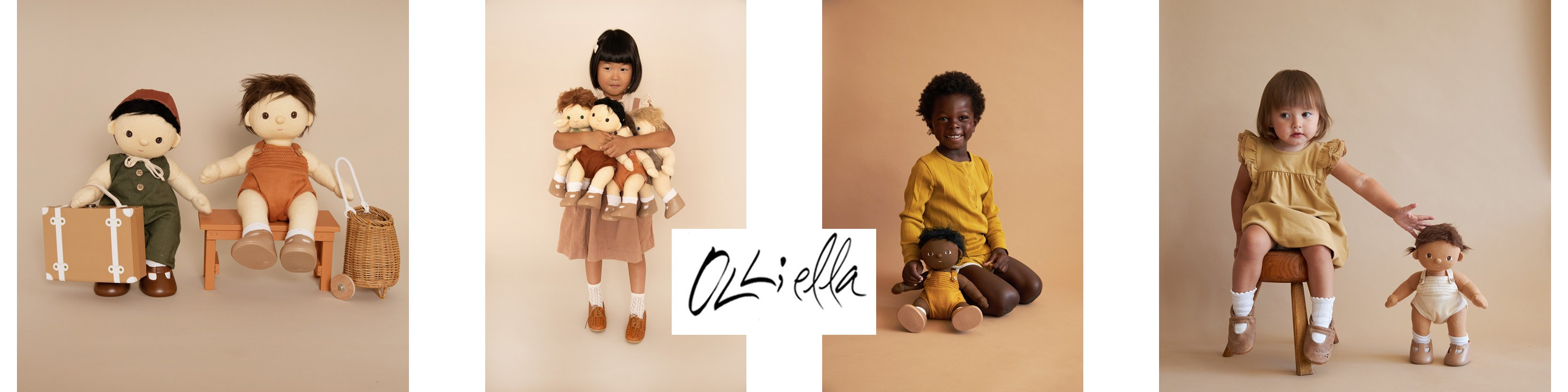 Poupées Dinkum, paniers Luggy et Chari de la marque anglo-australienne Olli Ella